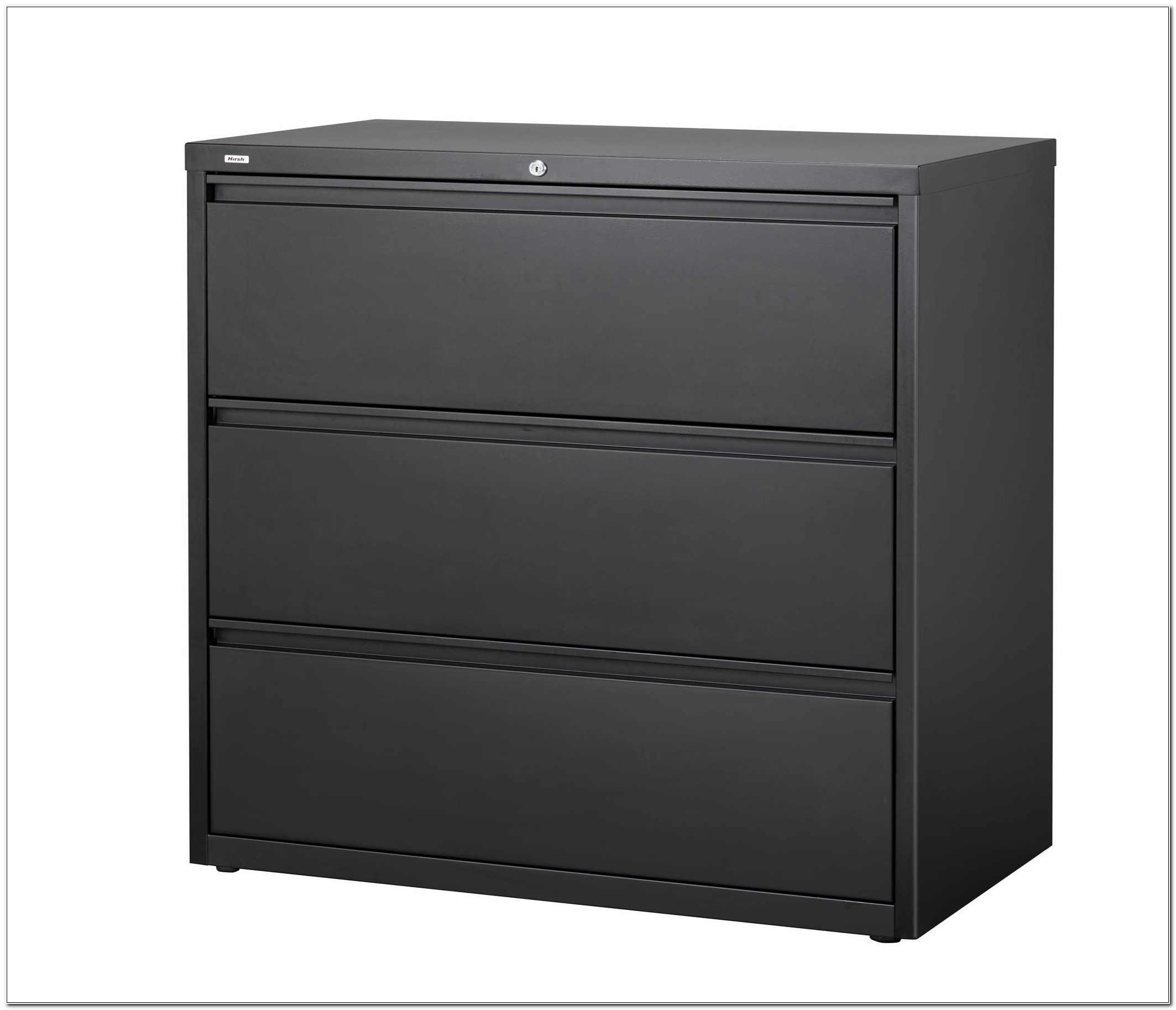 3 Drawer Black Lateral File Cabinet