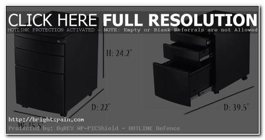 3 Drawer File Cabinet Black Metal