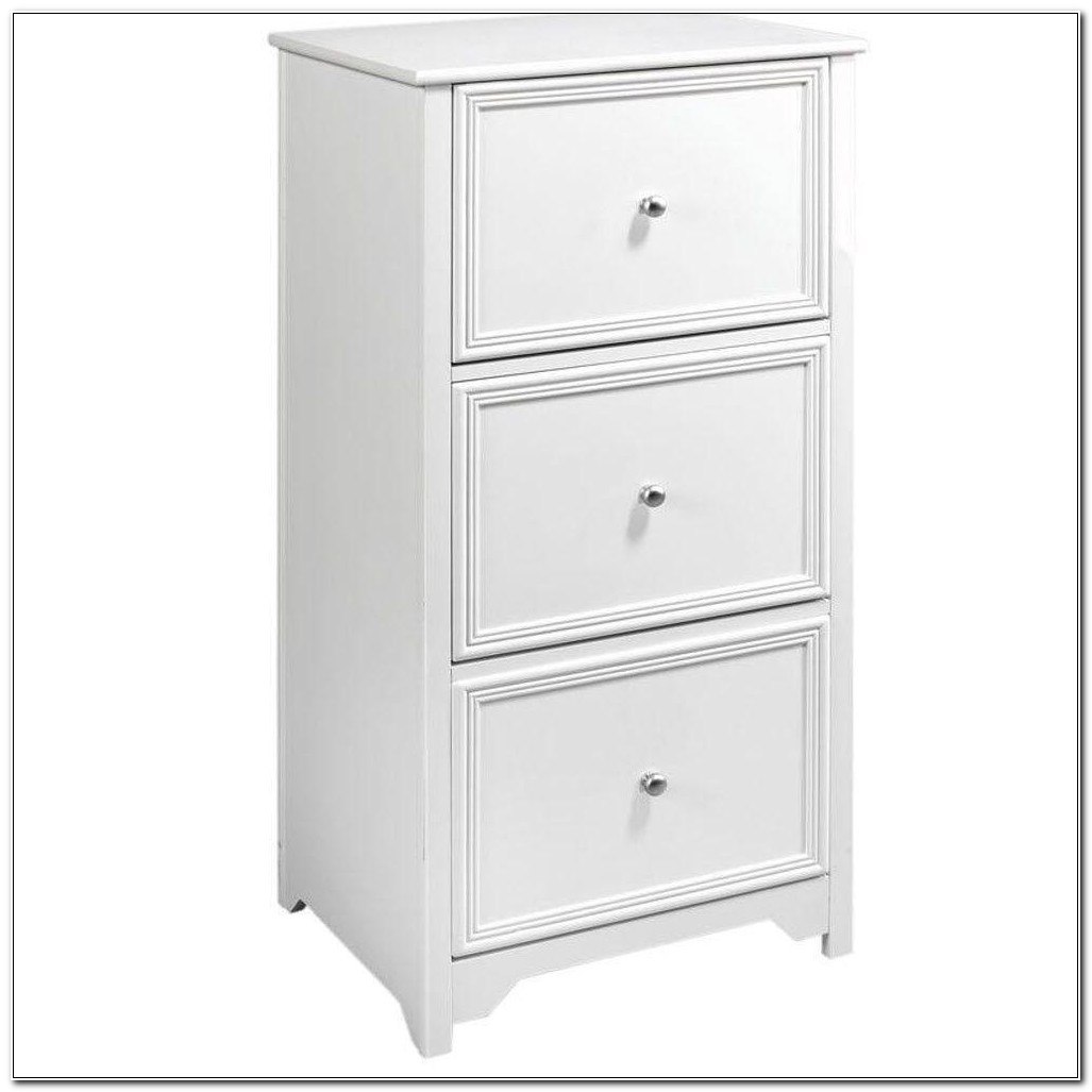 3 Drawer File Cabinet White Wood