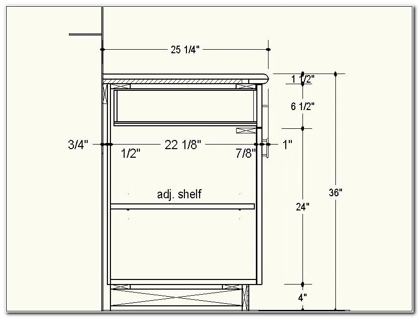 3 Drawer Kitchen Base Cabinet Dimensions