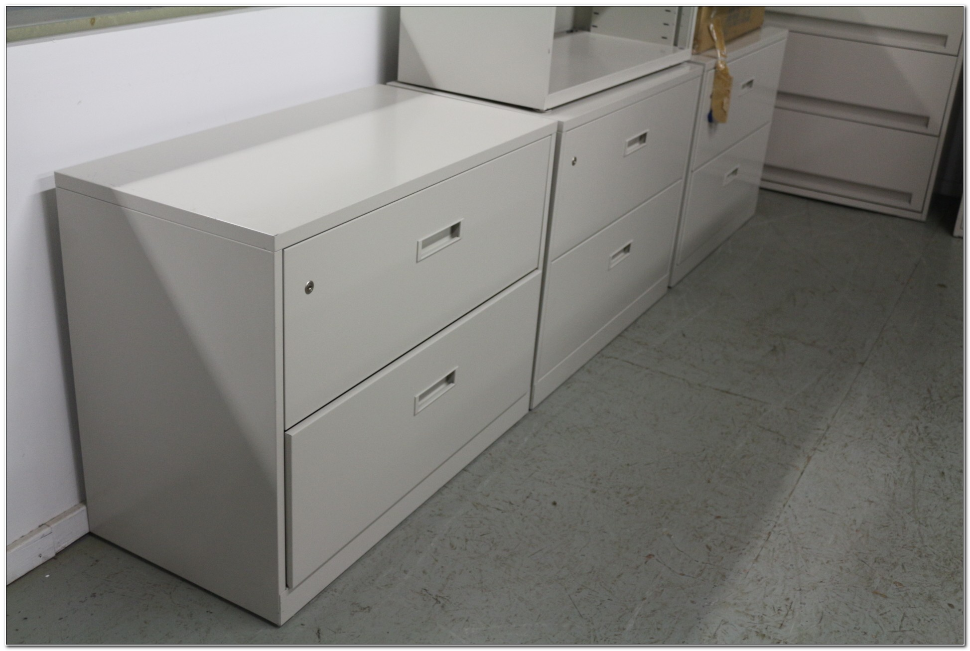 3 Drawer Lateral File Cabinet Black Used