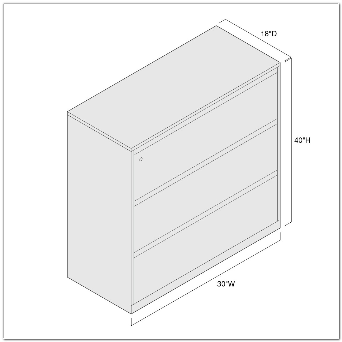 3 Drawer Lateral Filing Cabinet Dimensions