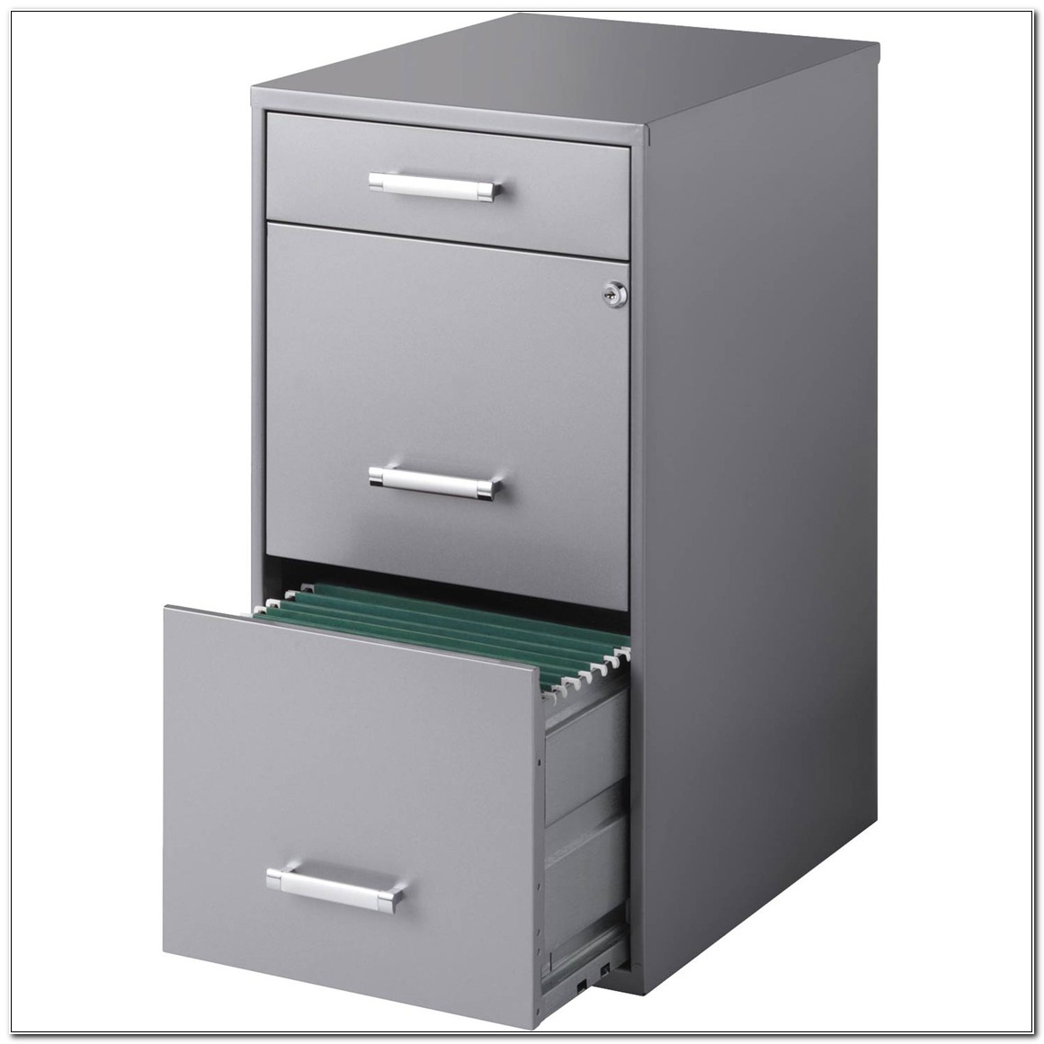 3 Drawer Metal Filing Cabinet With Lock
