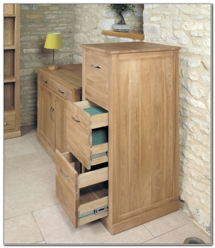 3 Drawer Oak Filing Cabinets