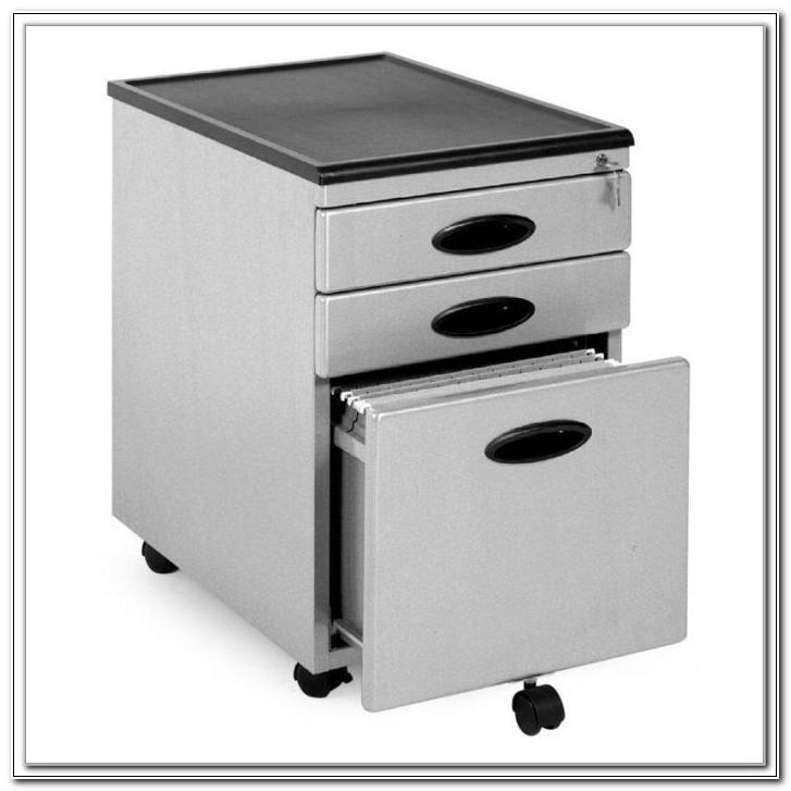 3 Drawer Organizer Mobile File Cabinet