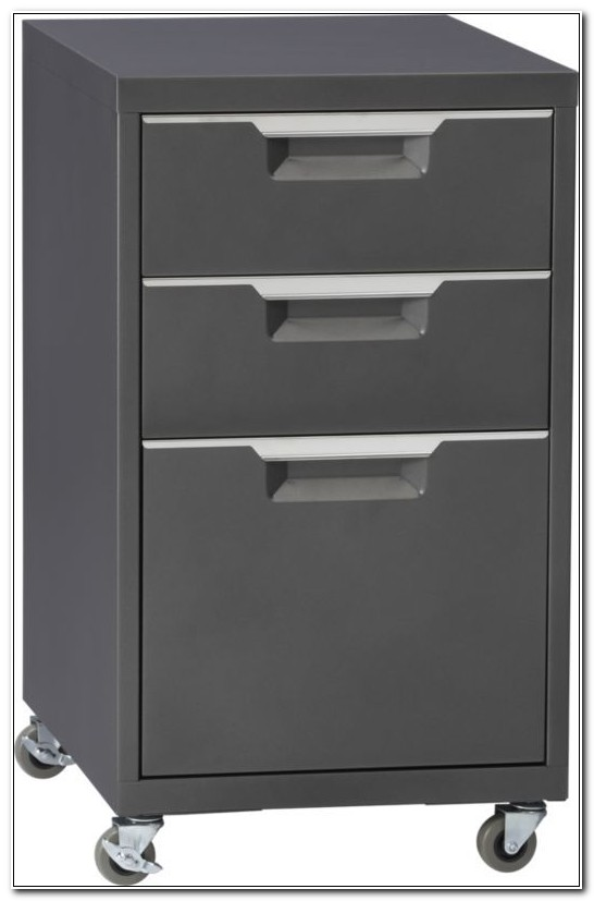3 Drawer Rolling File Cabinet