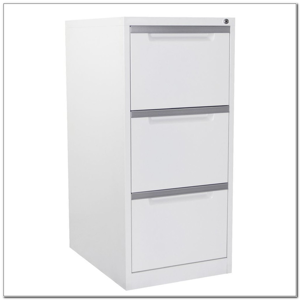 3 Drawer Vertical File Cabinet White