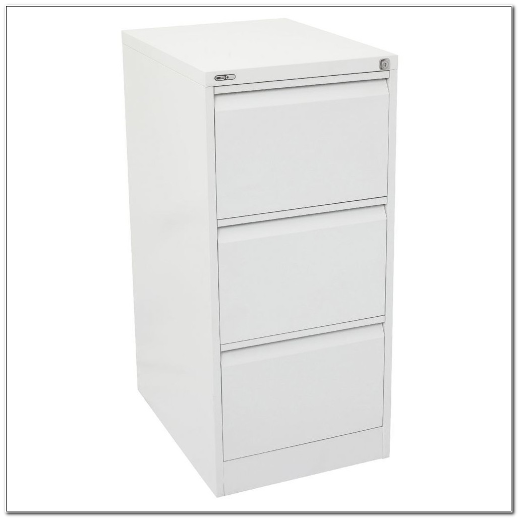 3 Drawer White Filing Cabinet