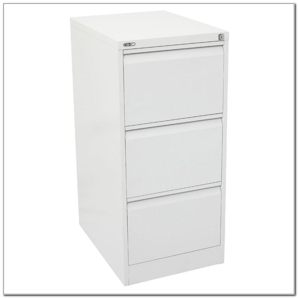 3 Drawer White Filing Cabinet