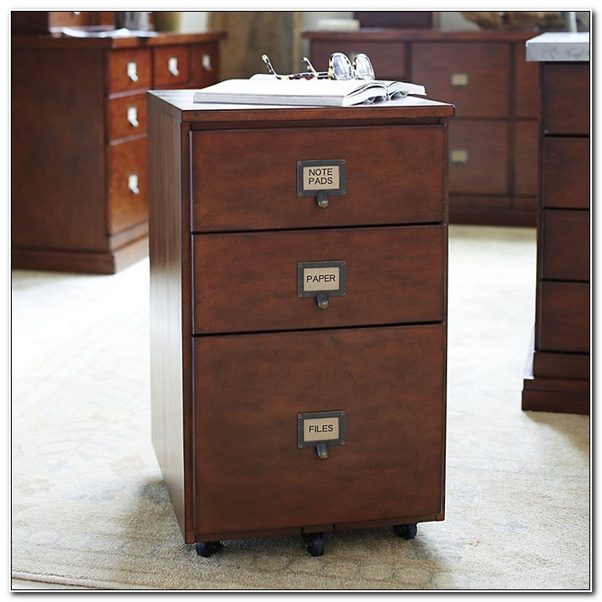3 Drawer Wooden Filing Cabinets Home