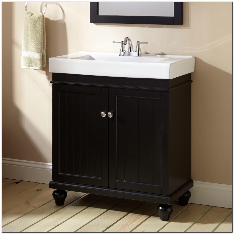 30 Black Bathroom Vanity Cabinet