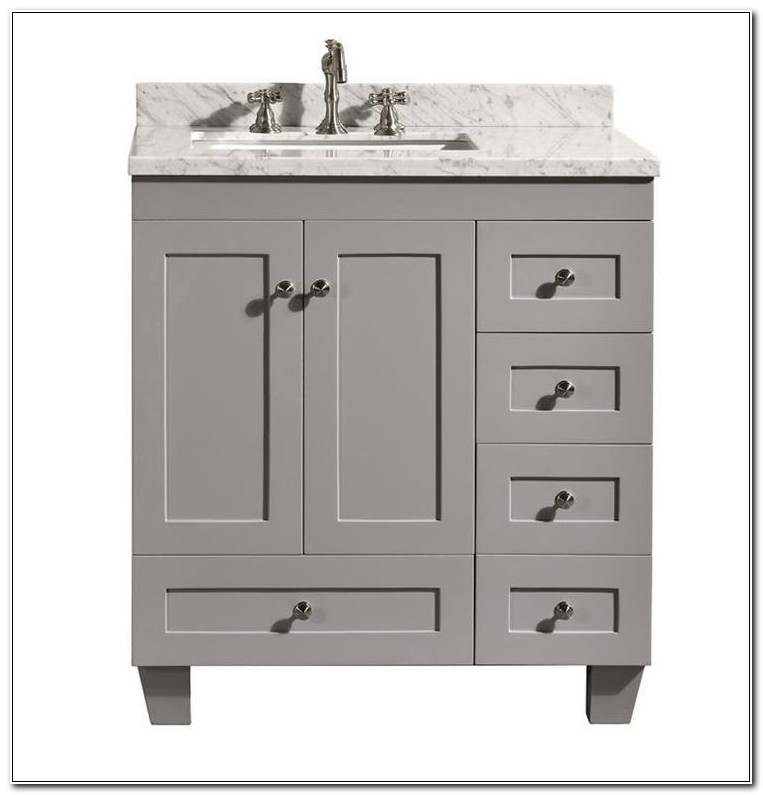 30 Inch Vanity Cabinet With Drawers