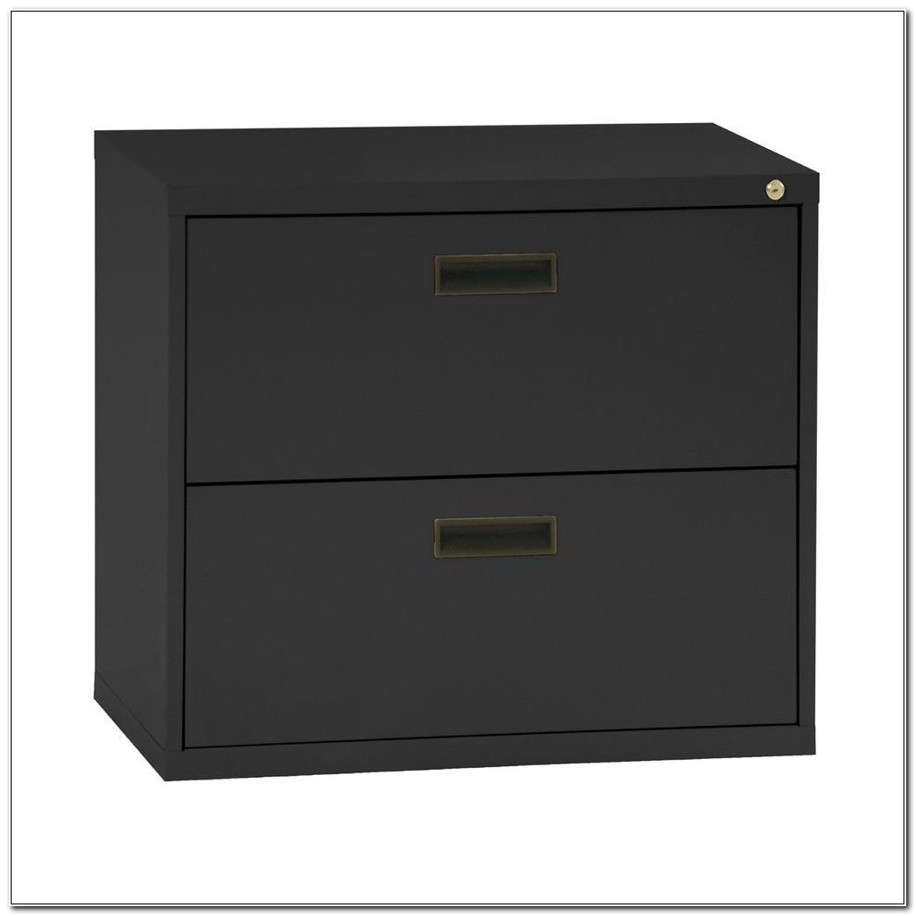 30 Lateral File Cabinet 2 Drawer Black