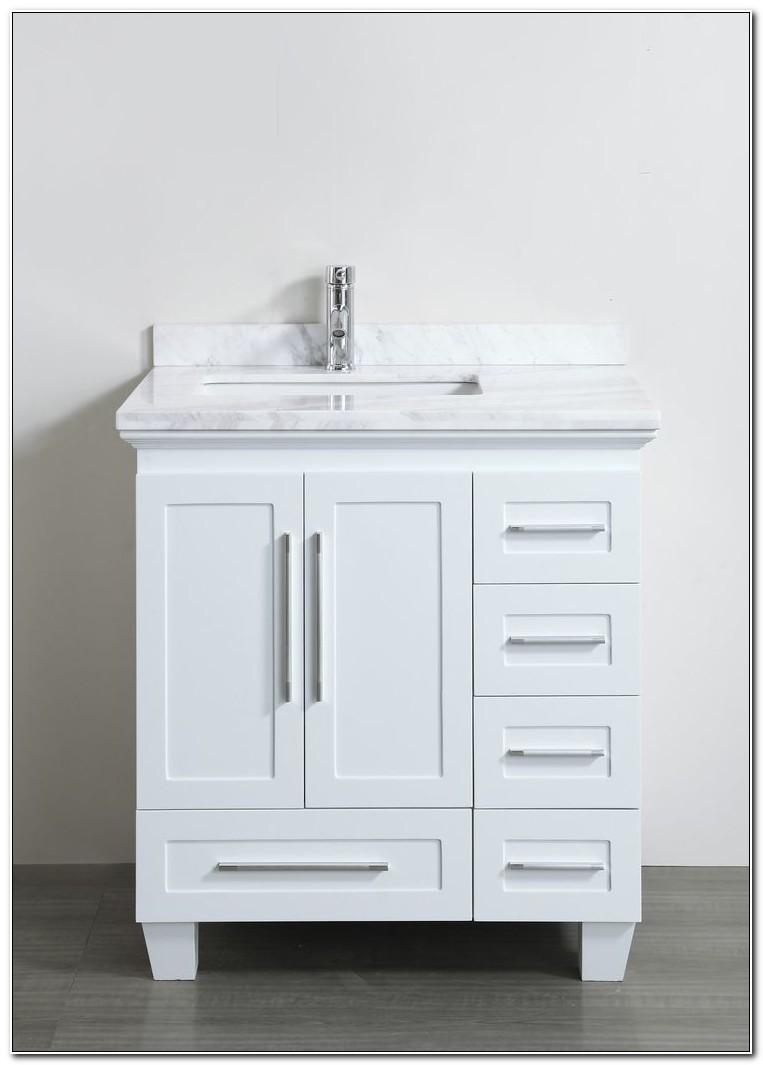 30 White Bathroom Vanity Cabinet