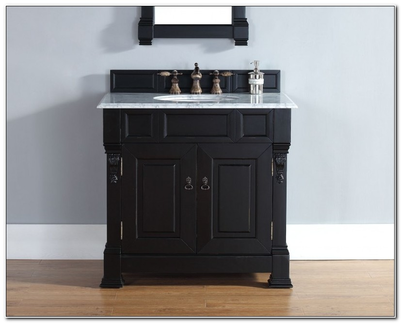 36 Inch Black Bathroom Vanity Cabinet