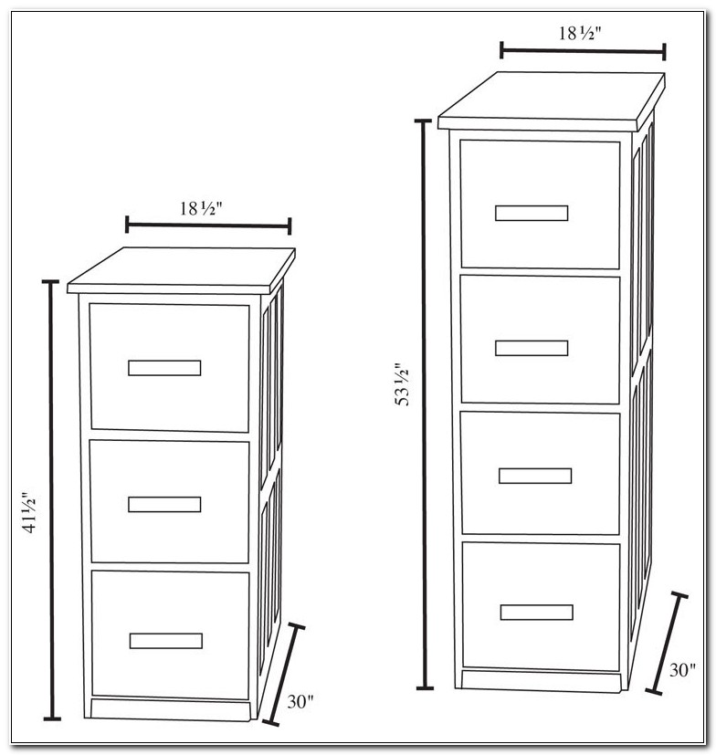 4 Drawer File Cabinet Height