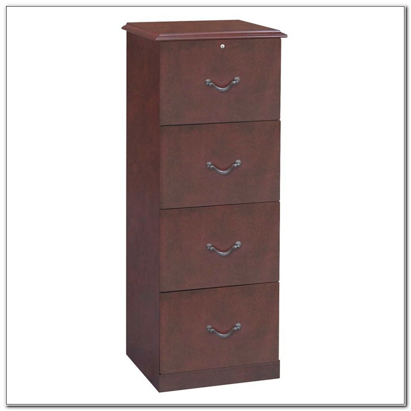 4 Drawer Wood File Cabinets