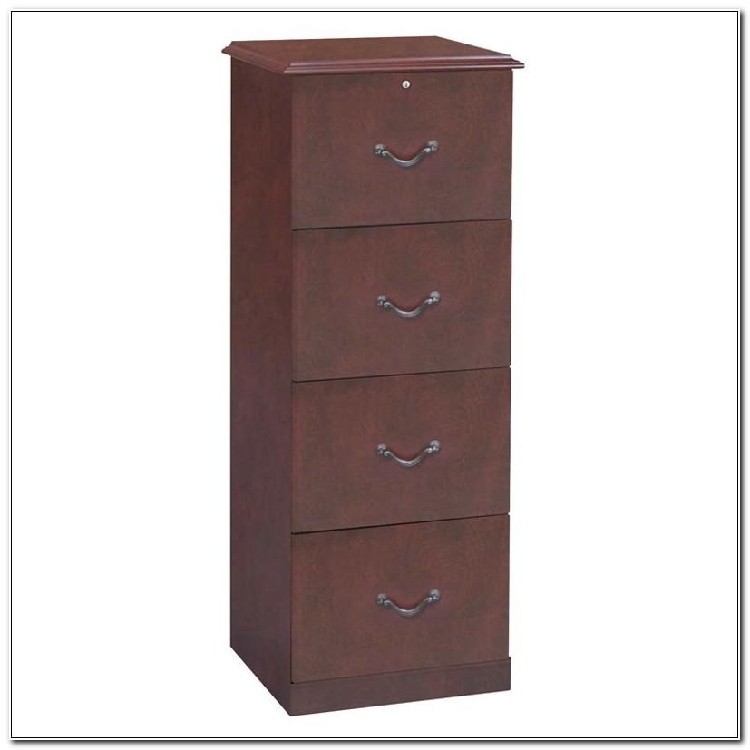 4 Drawer Wooden File Cabinet