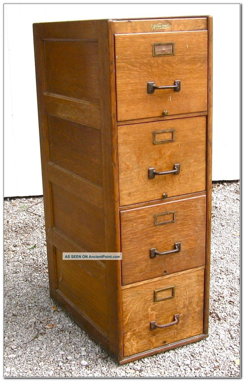 4 Drawer Wooden Filing Cabinet Uk