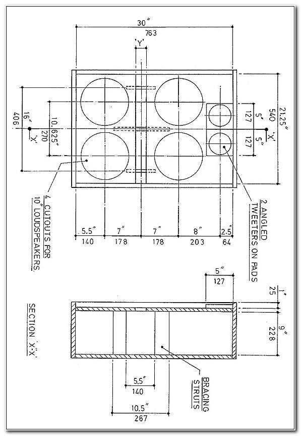 4 X 10 Bass Cabinet Design