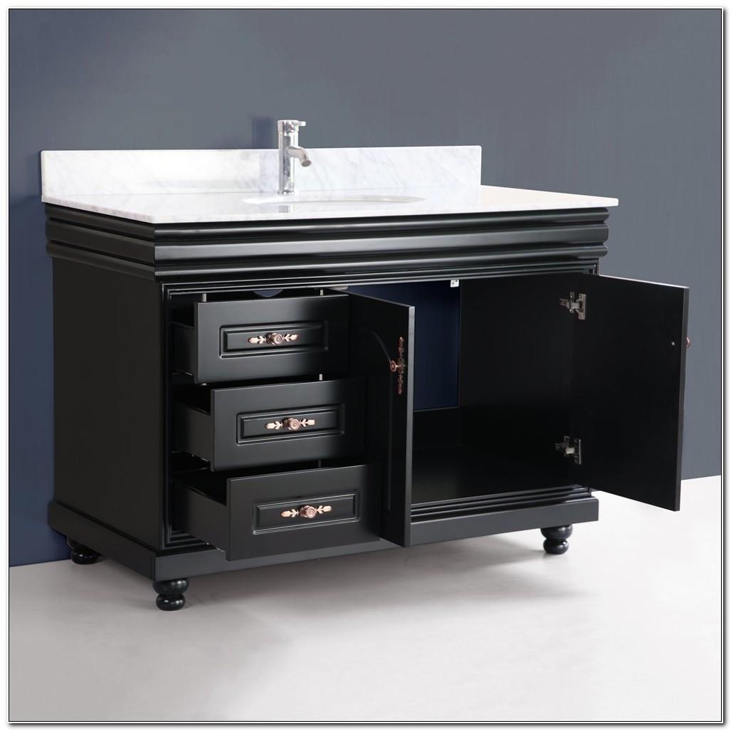 48 Inch Vanity Cabinet Black