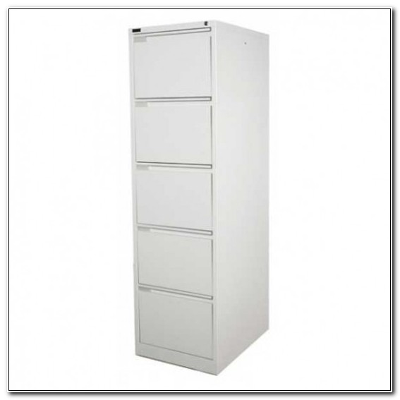 5 Drawer Filing Cabinet White