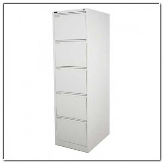 5 Drawer Filing Cabinet White