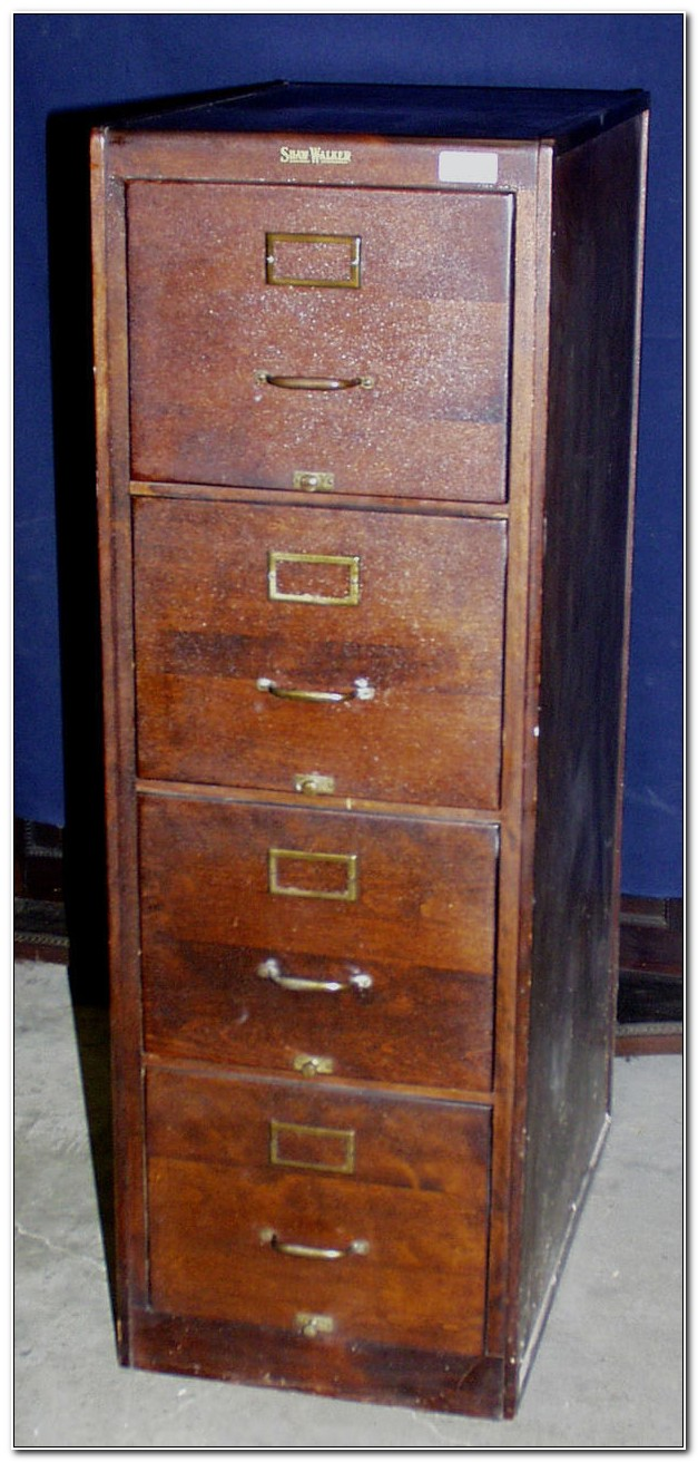 5 Drawer Wood File Cabinet