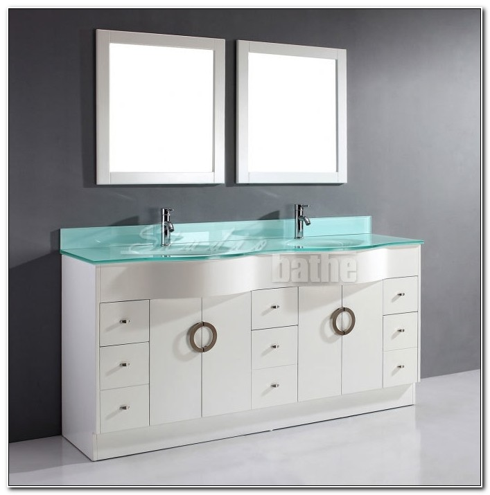 72 Inch White Bathroom Vanity Cabinet