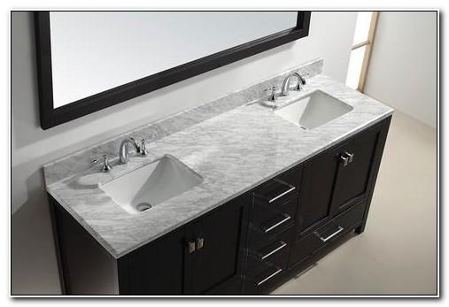72 Vanity Double Sink Top