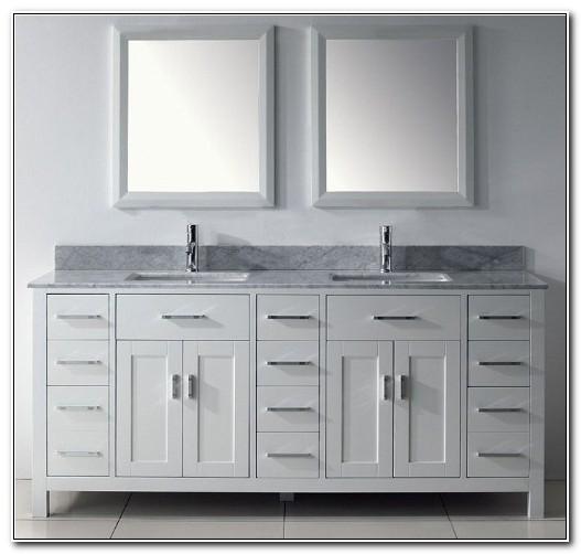 72 Vanity Double Sink White