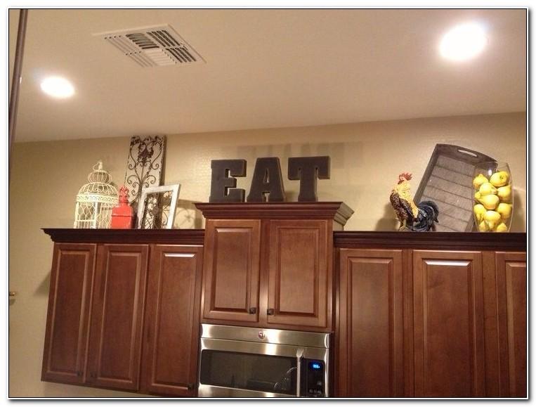 Above Cabinet Kitchen Decor Idea