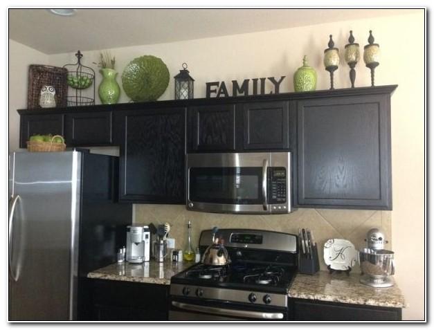 Above Kitchen Cabinet Decor Pinterest