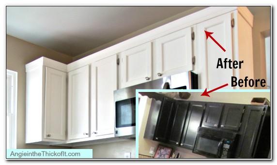 Adding Decorative Molding To Kitchen Cabinets