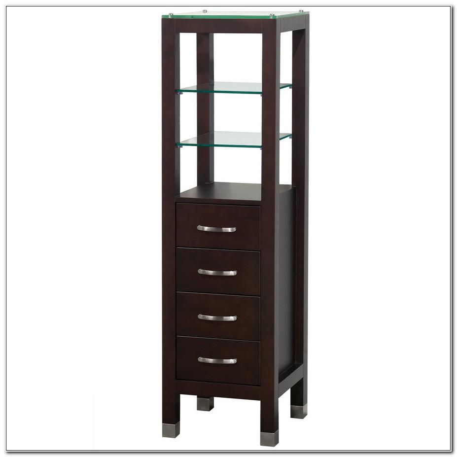 Allen Roth Linen Cabinet Espresso