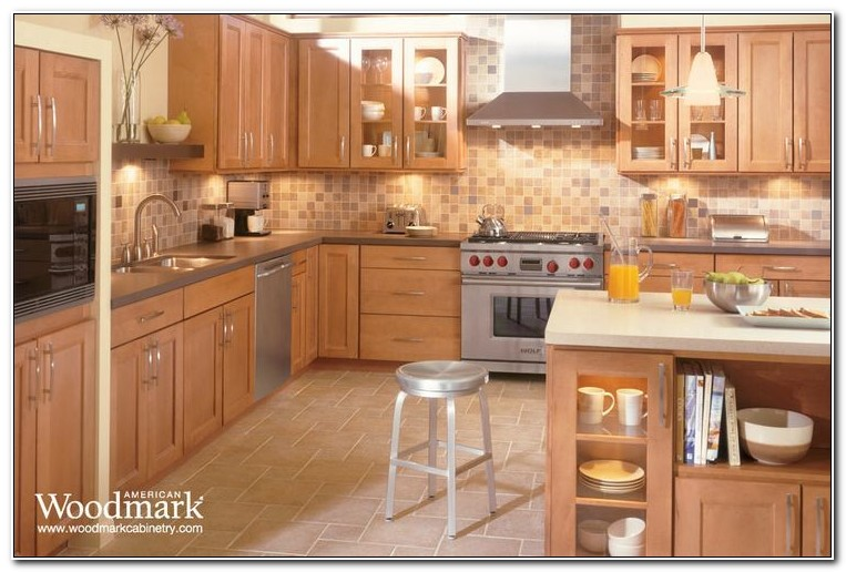 American Woodmark Maple Spice Kitchen Cabinets