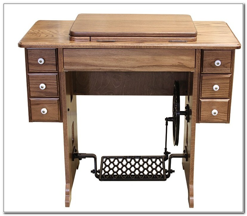 Amish Treadle Sewing Machine Cabinet