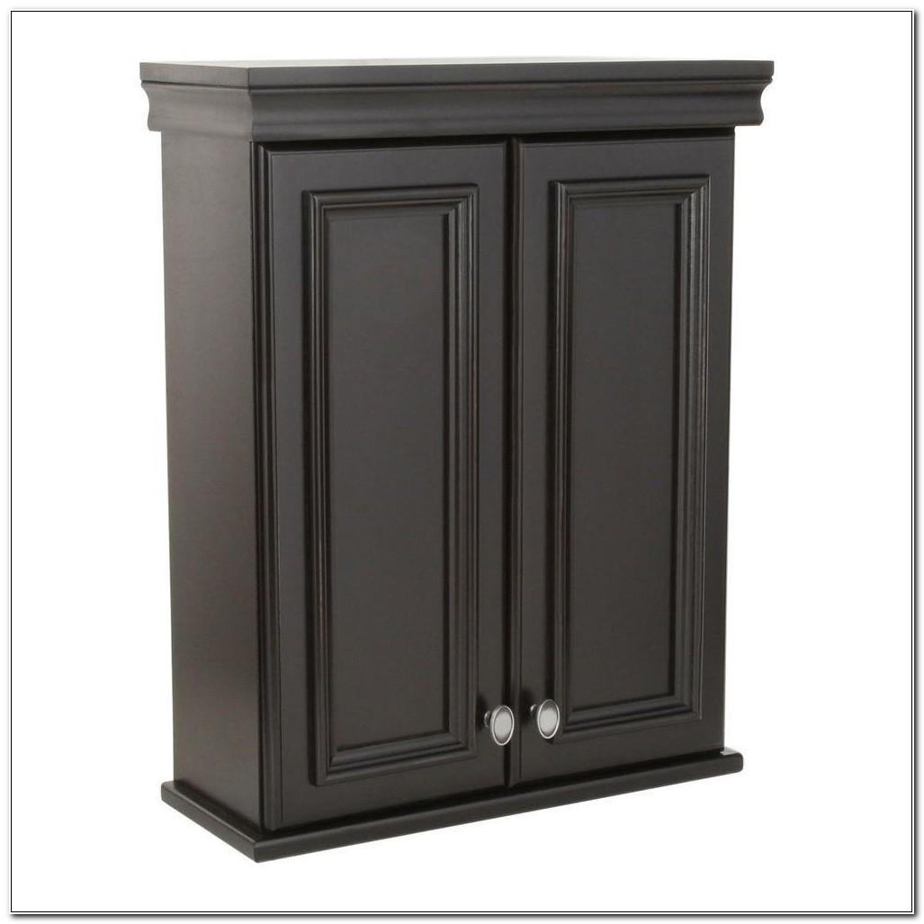 Antique Black Bathroom Wall Cabinet