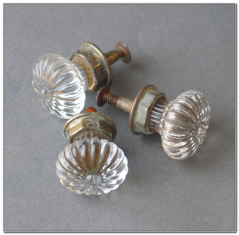 Antique Glass Cabinet Door Knobs