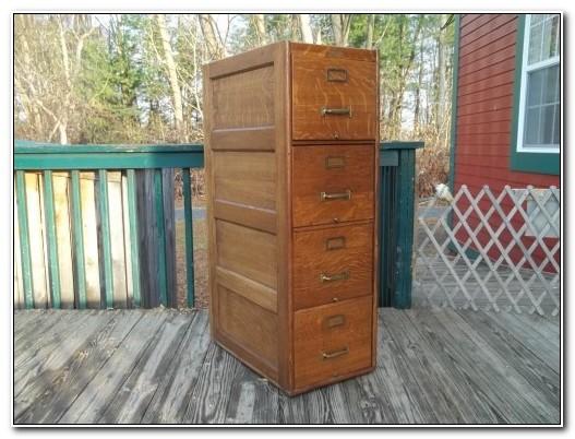 Antique Tiger Oak Filing Cabinet