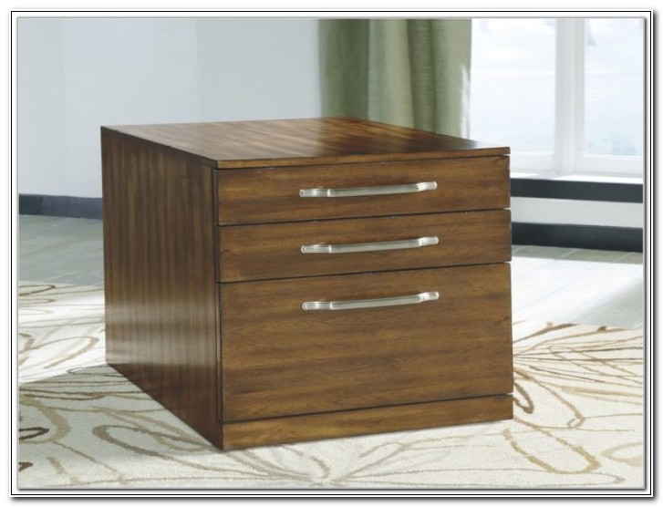 Ashley Furniture Wood File Cabinet