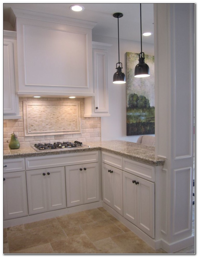 Backsplash For Off White Kitchen Cabinets
