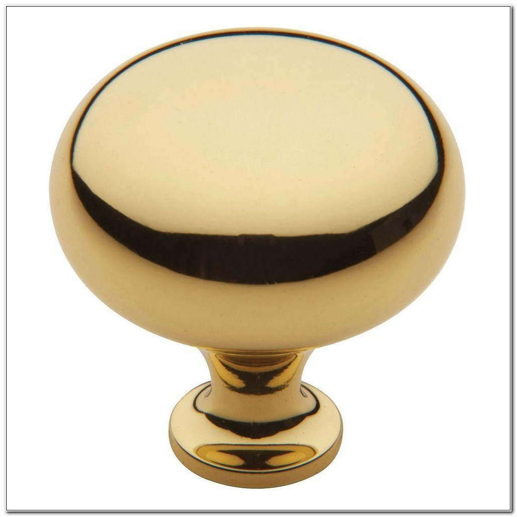 Baldwin Polished Brass Cabinet Knobs