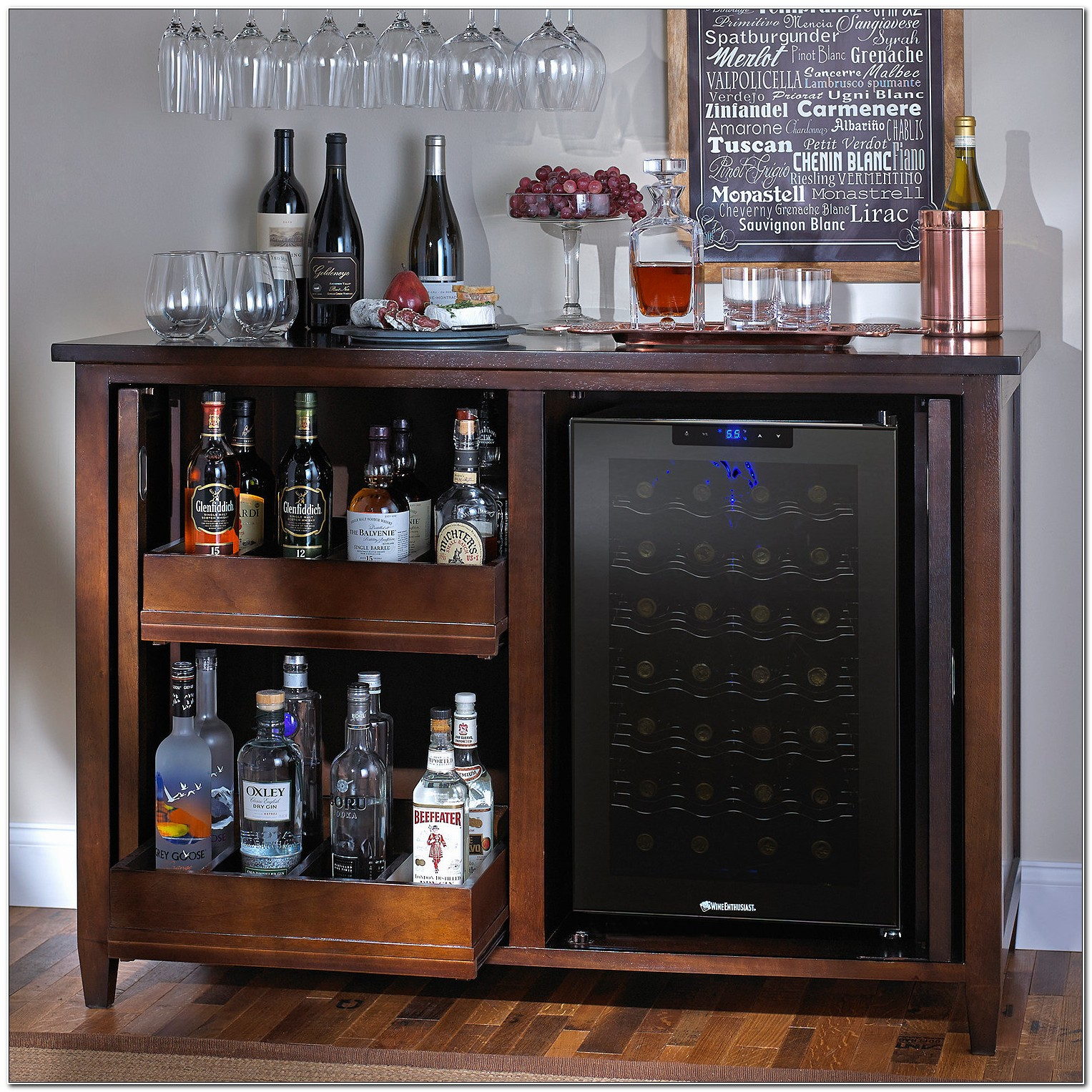 Bar Cabinet With Wine Fridge