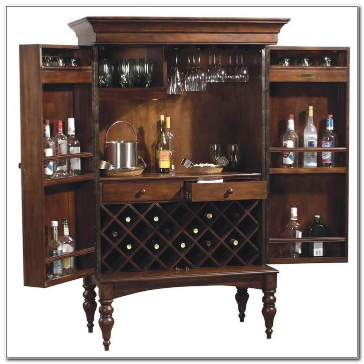 Bar Wine Rack Liquor Cabinet