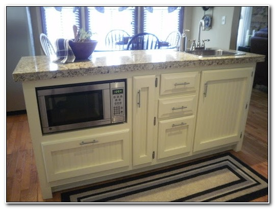 Base Cabinet With Microwave Shelf