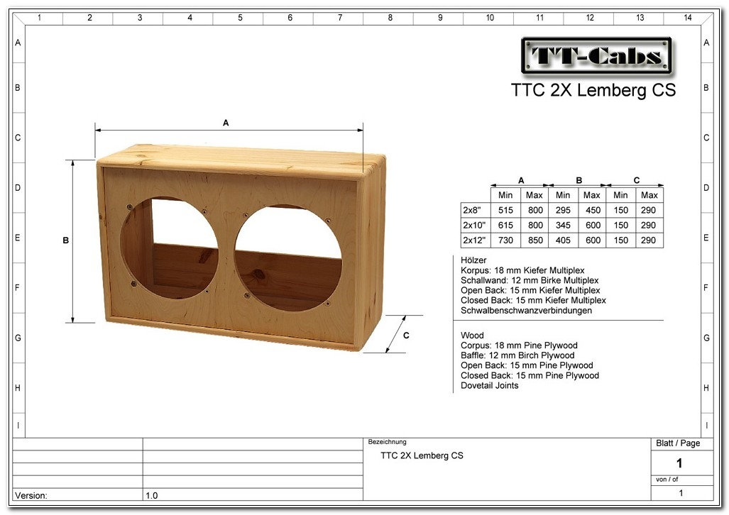 Bass Guitar Speaker Cabinet Plans
