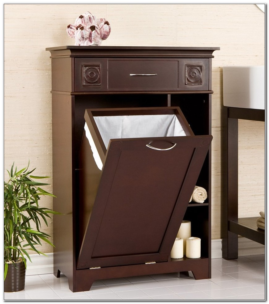 Bathroom Cabinets With Pull Out Hamper