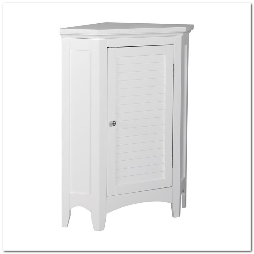 Bathroom Corner Floor Cabinet