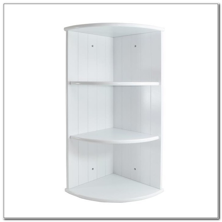 Bathroom Corner Wall Cabinet White